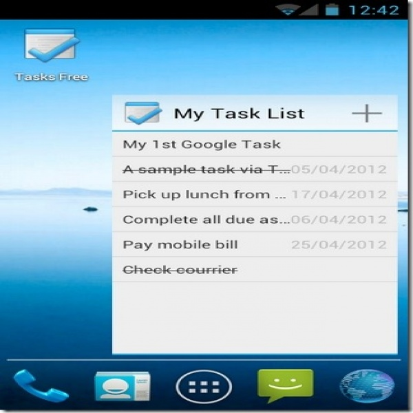 Tasks For Android: Holo-Themed To-Do List App With Google Tasks Sync | task list widget | task list widget