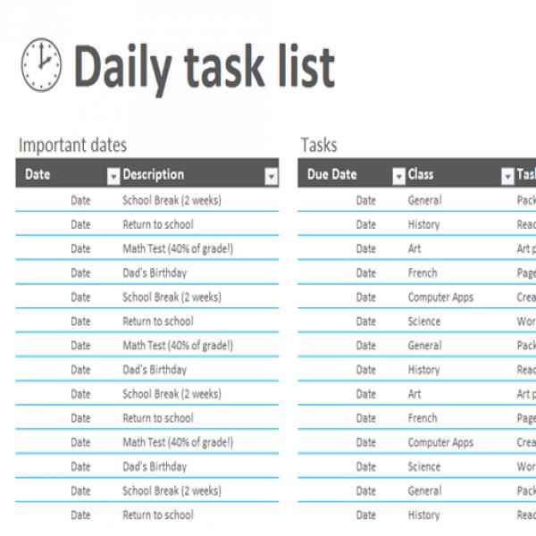12+ Task List Templates - Word Excel PDF Formats | job task list | job task list