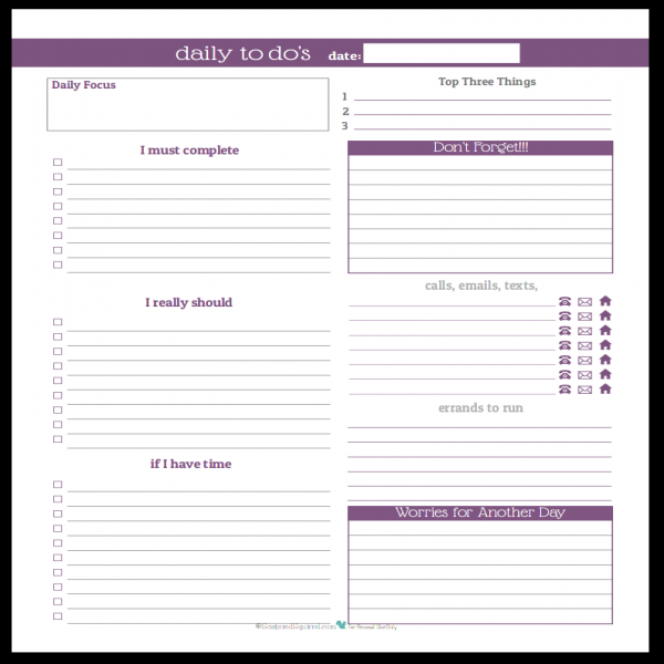 Stay on Track in 2016 With These Daily To-Do List Planner .. | task list planner