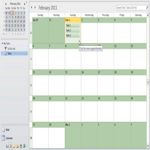 Daily Task List Planner - MSOutlook | task list planner