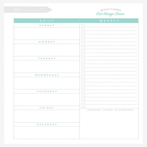 Free Weekly Planner Printable | Weekly planner, Planners and Free .. | task list planner