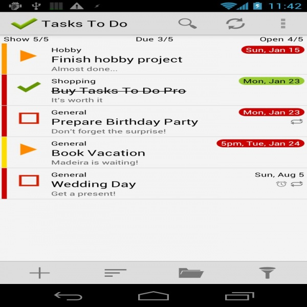 Tasks To Do Pro, To-Do List : Keeping Things Organized - Android .. | task list android
