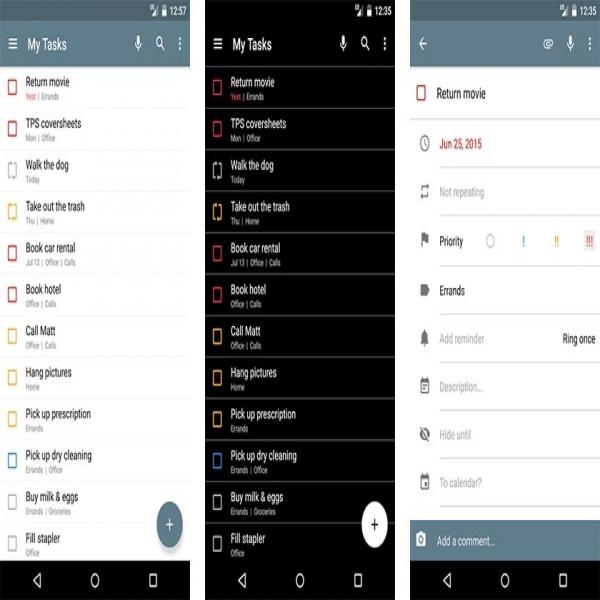 Task List Android Task List Templates