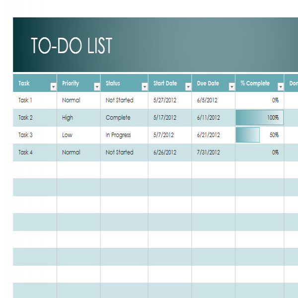 Monthly To Do List Template | Sample Format | monthly task list | monthly task list