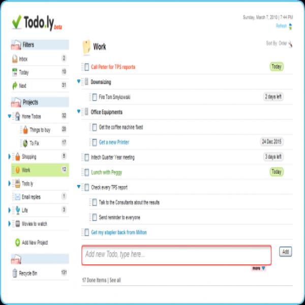 Todo | task list online
