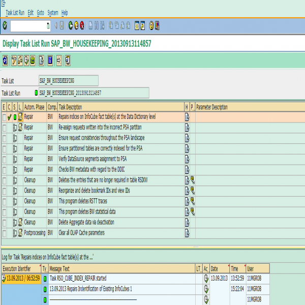 Create #SAP #BW Housekeeping task list | SAP Blogs | housekeeping task list | housekeeping task list