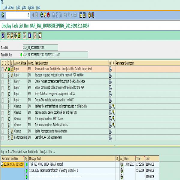 Create #SAP #BW Housekeeping task list | SAP Blogs | housekeeping task list | housekeeping task list