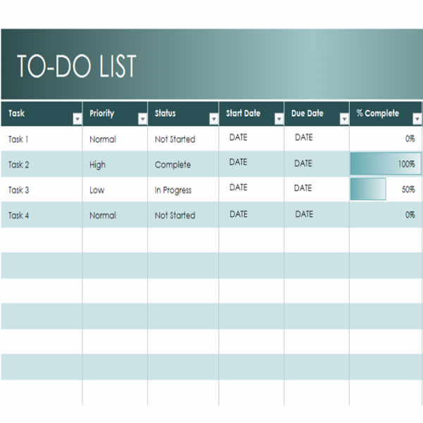 Simple to-do list - Office Templates | task list template excel | task list template excel