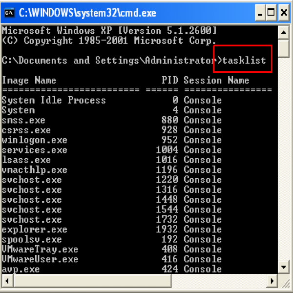 How to get the PID (process ID) of processes running in Microsoft .. | task list cmd