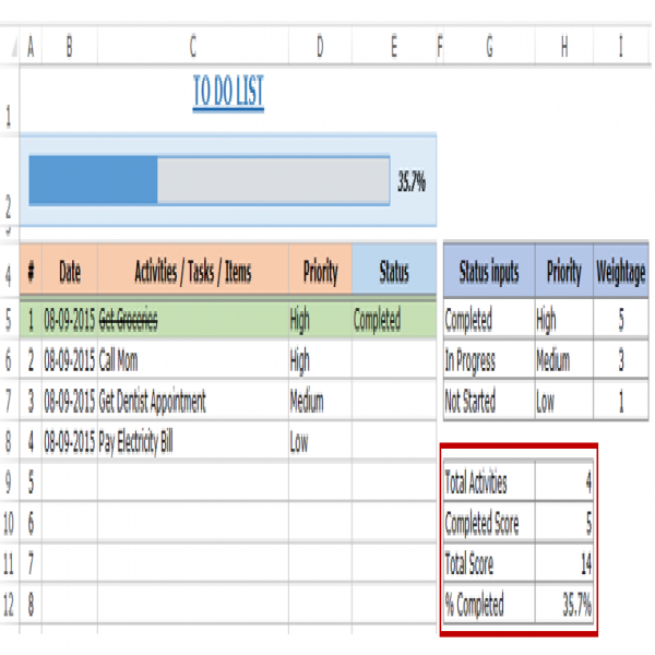 Excel To Do List Template - [FREE DOWNLOAD]   task list template excel   task list template excel