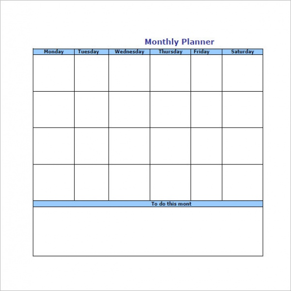 Monthly Task List Template  Task List Templates