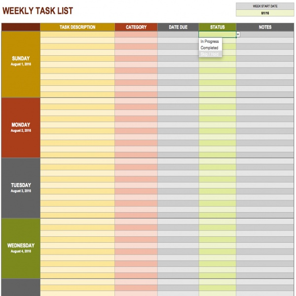 15 Free Task List Templates - Smartsheet | project management task list template | project management task list template