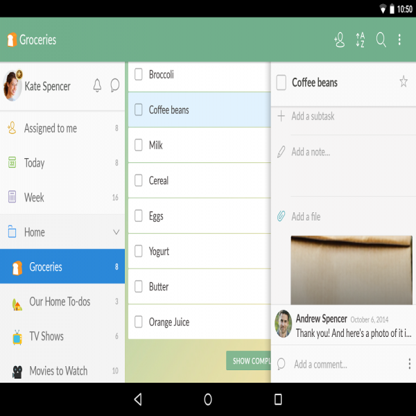 Wunderlist: To-Do List & Tasks - Android Apps on Google Play | to do list app | to do list app