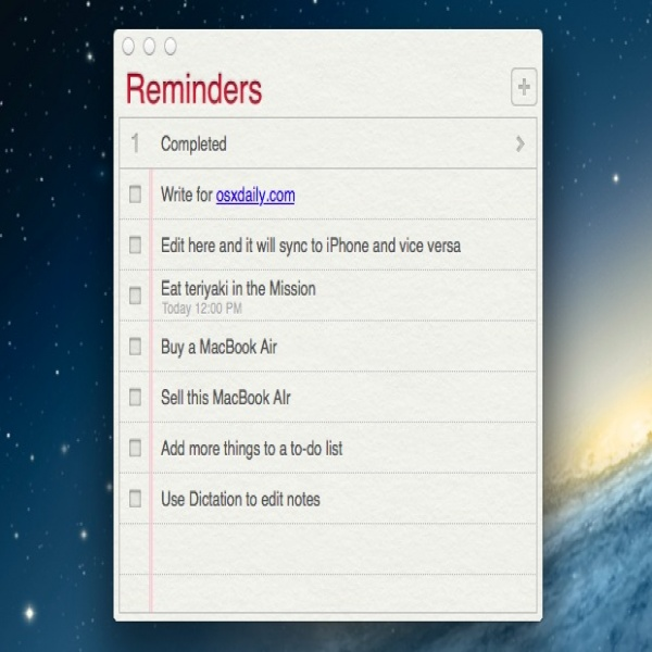 Update To-Do Lists & Reminders on the Mac OS X Desktop from an iPhone   to do list reminder   to do list reminder