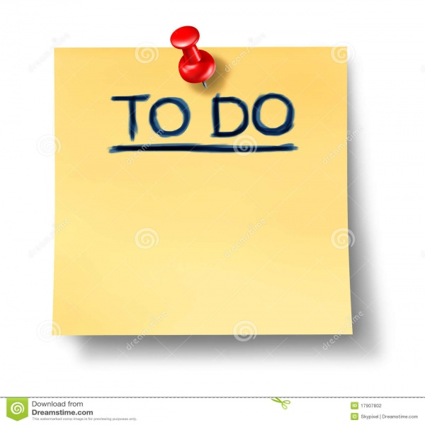 To Do List Office Note Reminder Attention Paper Stock Photography ..   to do list reminder
