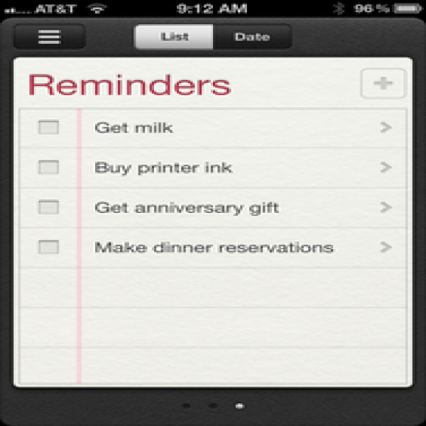 First Look: iOS 5 Reminders | Macworld | to do list reminder | to do list reminder