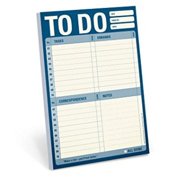 Amazon.com : Knock Knock To Do Pad (Blue) : To Do Pad Blue By .. | to do list pad