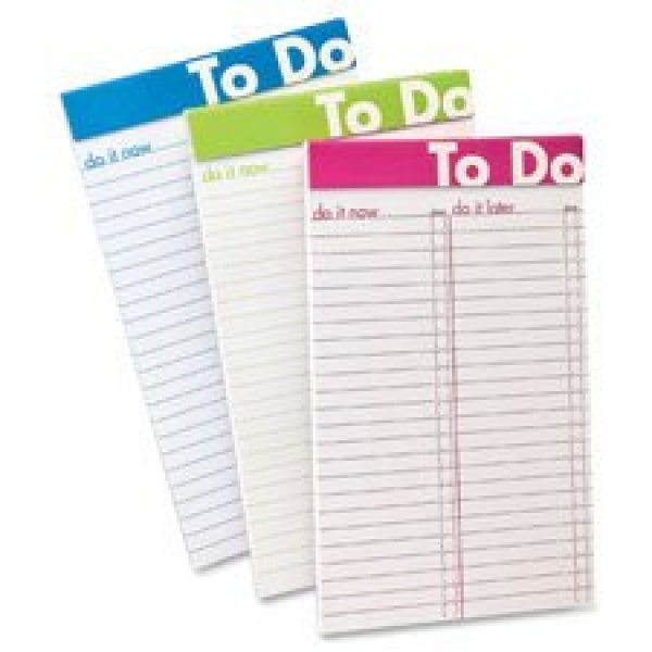 "Amazon.com : To Do List Notepad, 5""x8"", 50Shts, Color Rld, 6/PK .. 