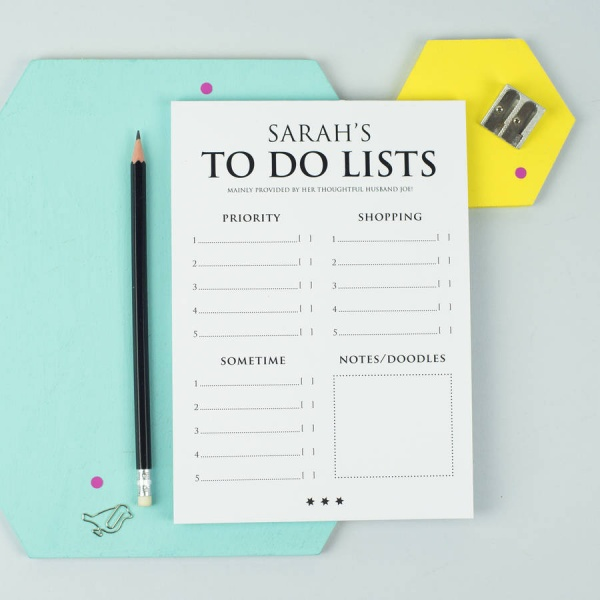 personalised a5 classic to do list notepad by xoxo .. | to do list notepad