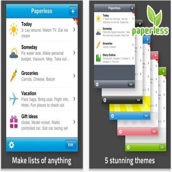 Paperless- Your iPhone to-do list builder - Dreamcss | to do list application | to do list application