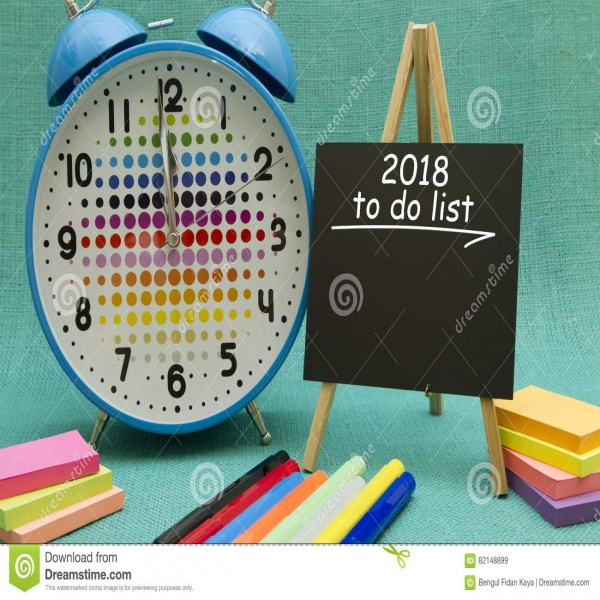 2018 New Year To Do List Stock Photo - Image: 82148899   to do list 2018   to do list 2018