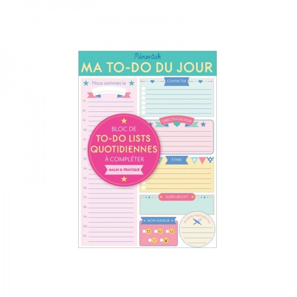 My daily to-do list Mémoniak 2018 - Éditions 365 | to do list 2018 | to do list 2018