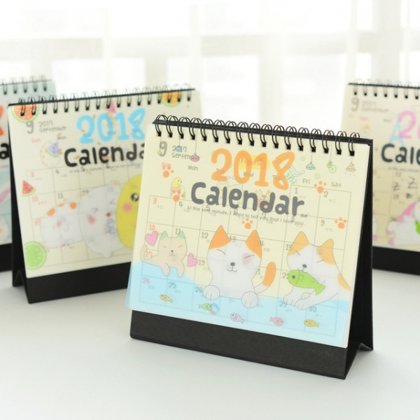 "Aliexpress.com : Buy ""Happy Zoo"" 2018 Desk Calendar Cute Table .. 