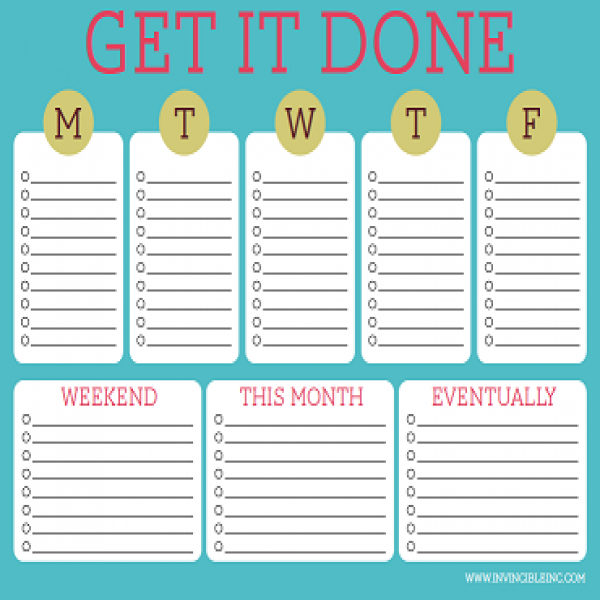 Free Printable To-Do Lists – Cute & Colorful Templates | Free .. | to do list template free