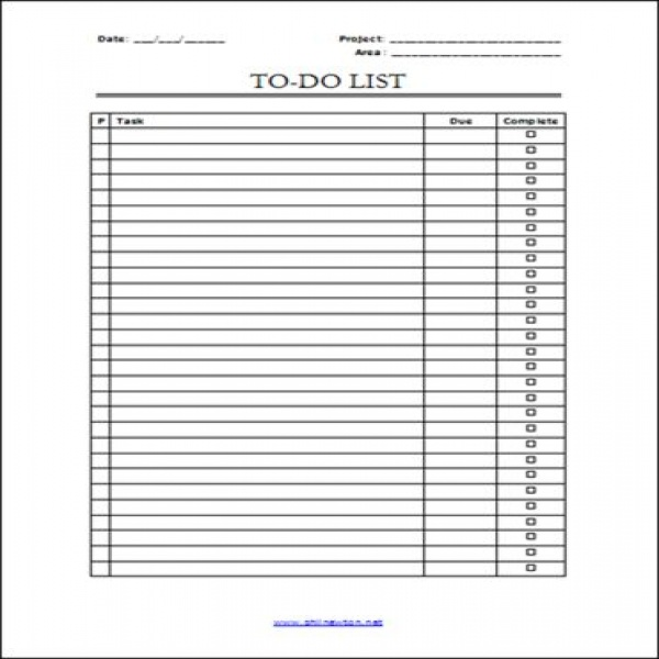 To Do List Pdf | free to do list | to do list pdf | to do list pdf