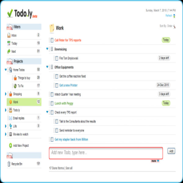 Todo | to do list online