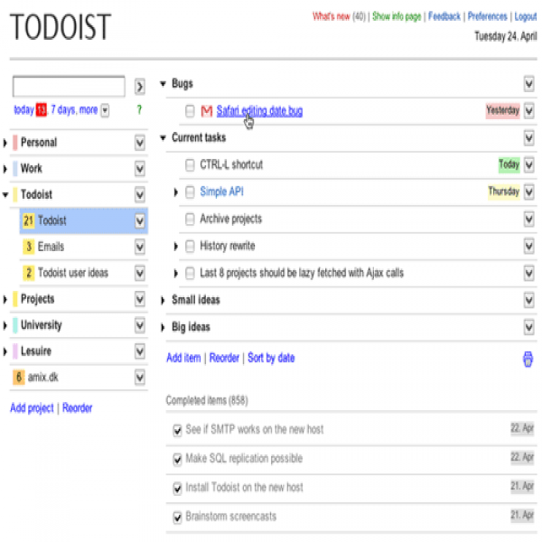 todoist project templates - to do list online task list templates