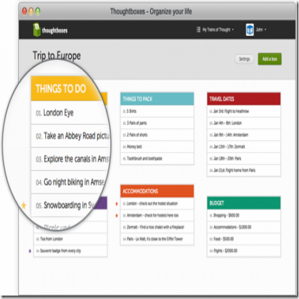 ThoughtBoxes: Online To Do List Manager | to do list online | to do list online