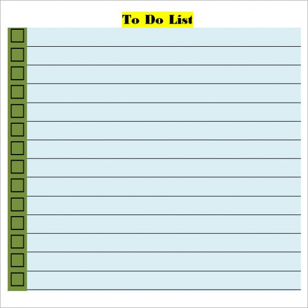 To Do List Template - 16+ Download Free Documents in Word, Excel, PDF | to do list template word | to do list template word
