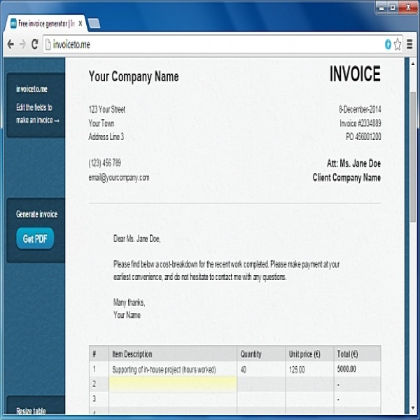 Invoice to me: The Best Online Invoice Generator | Invoice To Me | Invoice To Me