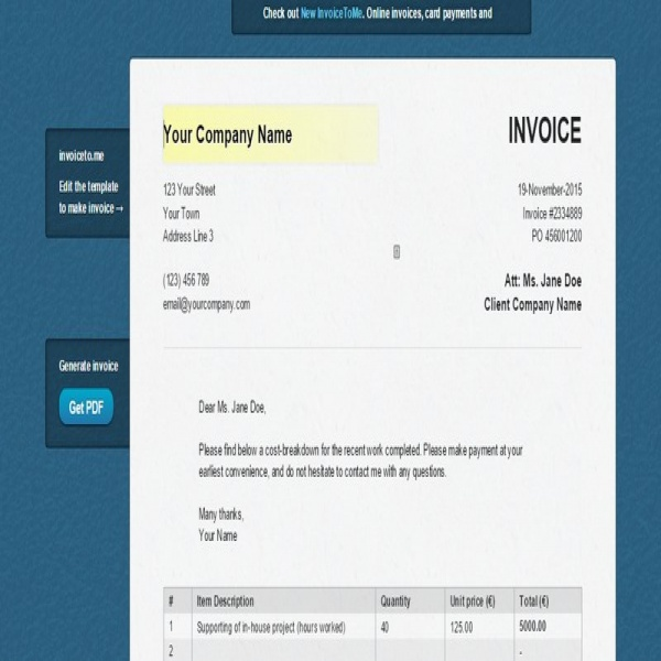 5 Easy, Free Ways To Generate Invoices For Your Clients | Invoice To Me | Invoice To Me
