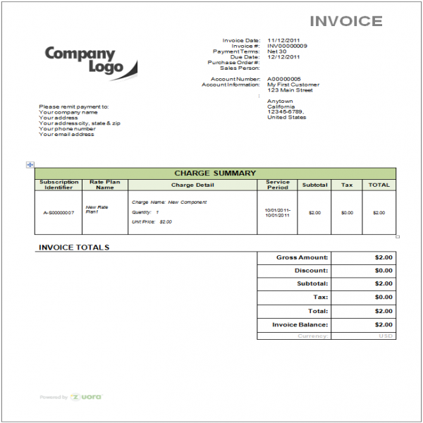 How do I remove the Zuora logo from my invoice template? - Zuora | Invoice Template With Logo | Invoice Template With Logo