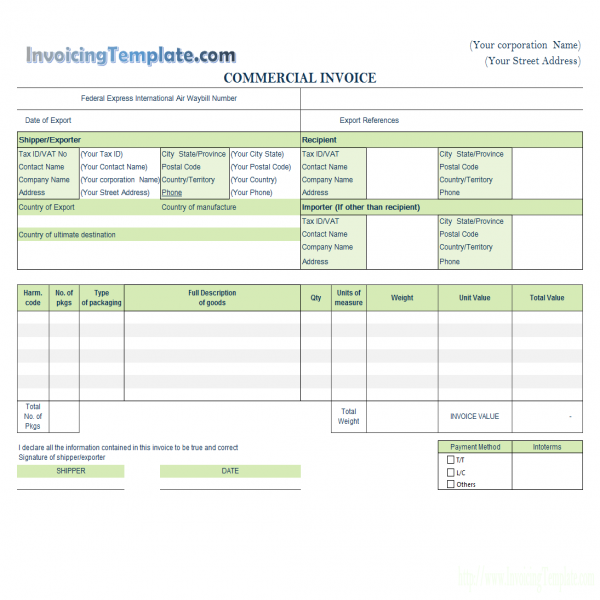 Invoicing Template with Logo | Invoice Template With Logo | Invoice Template With Logo