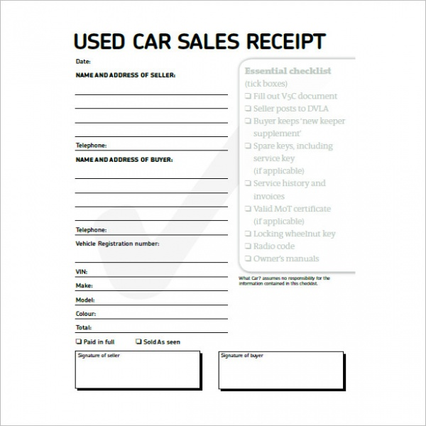Car Invoice Templates – 8+ Free Word, Excel, PDF Format Download .. | Vehicle Invoice Template
