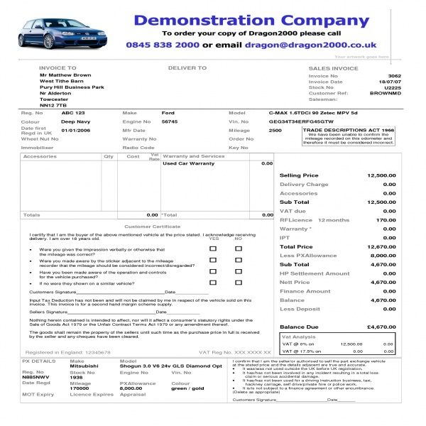 Vehicle Invoice Template | free to do list | Vehicle Invoice Template | Vehicle Invoice Template