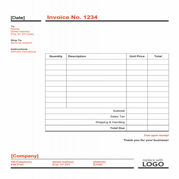 Word Invoice Template | Free Invoice Templates | Invoice Template In Word Format | Invoice Template In Word Format