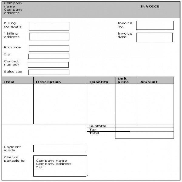 Generic Invoice. Download Form Free Invoice Template | Here Is A .. | Generic Invoice