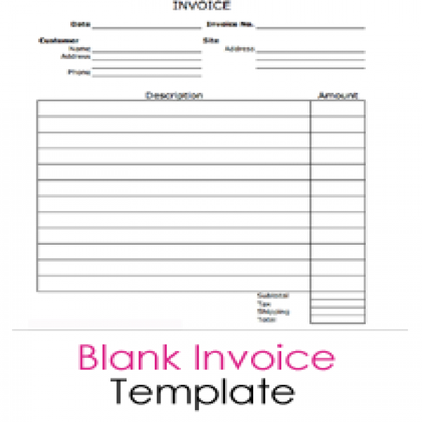 Free Blank Invoice Templates - 10 Sample Forms to Download | Free Printable Blank Invoice Templates | Free Printable Blank Invoice Templates
