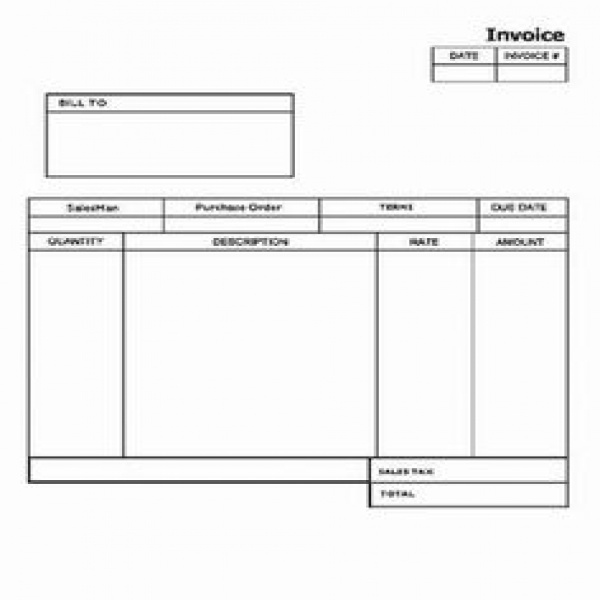 blank invoices templates