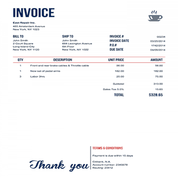100 Free Invoice PDF Templates | Print & Email | Invoice Template | Invoice Template