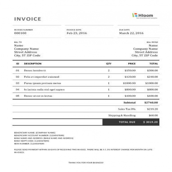 19 Blank Invoice Templates [Microsoft Word] | Invoice Template | Invoice Template