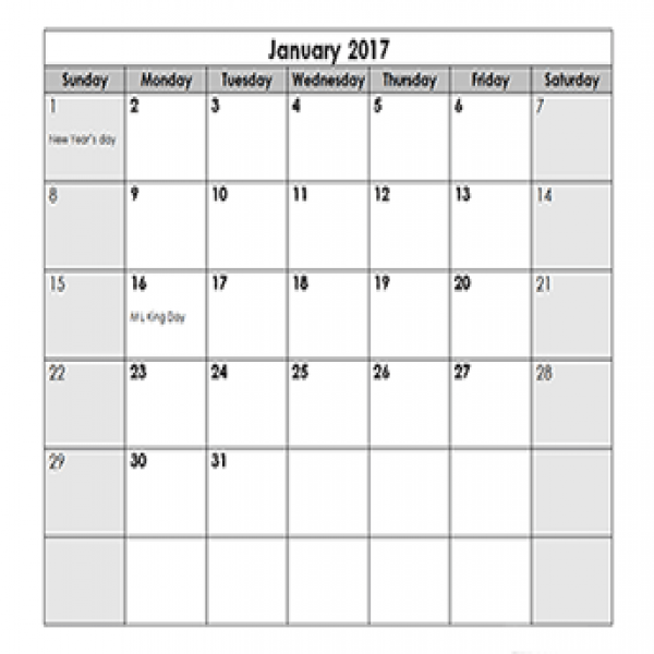 2017 Calendar Templates - Download 2017 monthly & yearly templates .. | calendar template