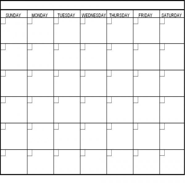 Blank Calendar List Format : Calendar template task list templates