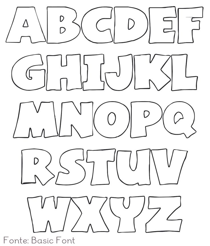 Alphabet templates and Banners