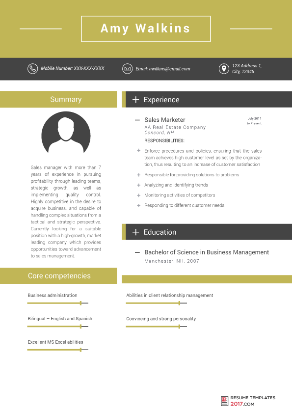 Marketing Resume Template Can Help You To Be Hired To the Best
