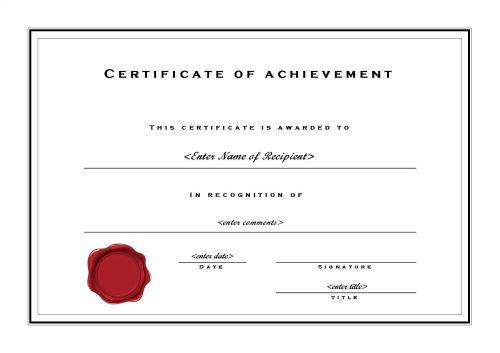 Certificate of Achievement 002